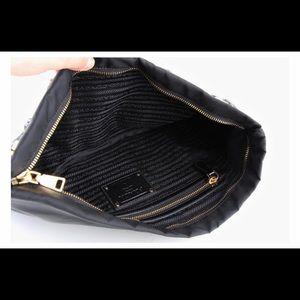 7db1b0efbc11 Prada Bags | Black Tessuto Pietre Jeweled Nylon Clutch | Poshmark